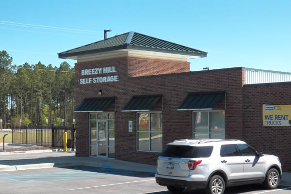 Front office at Breezy Hill Self Storage in Graniteville, South Carolina