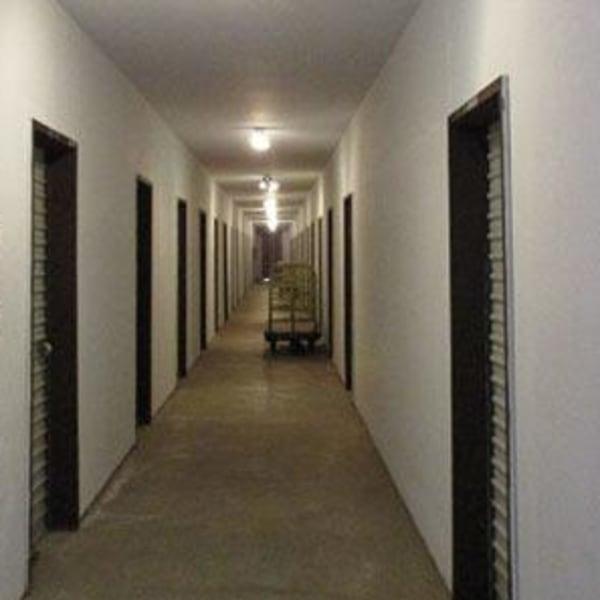 Indoor storage lockers at StorQuest Self Storage in Ripon, California
