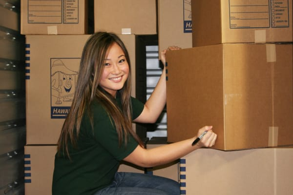 Girl smiling at Student Summer Storage
