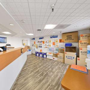 Inside the office at A-1 Self Storage in La Mesa, California