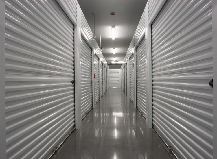 Indoor storage units at Metro Self Storage in Mount Laurel, New Jersey