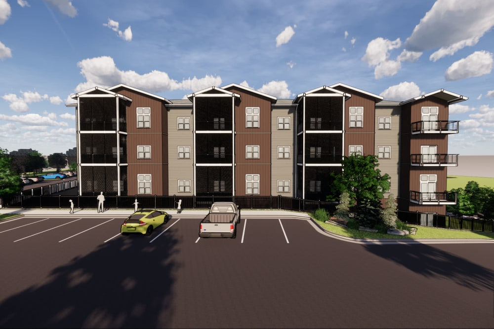 Rendering of apartments at Turners Rock in Springfield, Missouri.