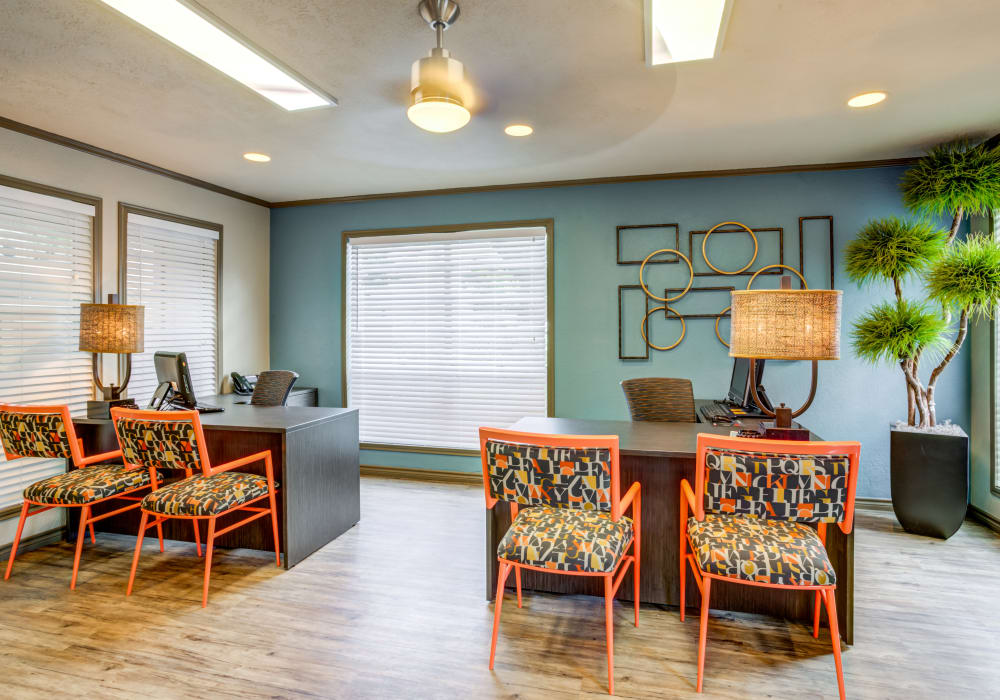 check in  at Riverstone Apartments in Bryan, Texas