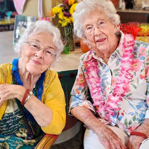 Residents enjoying tea at The Oxford Grand Assisted Living & Memory Care in Kansas City, Missouri