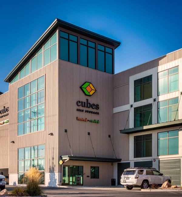 Building front at Cubes Self Storage in Millcreek, Utah