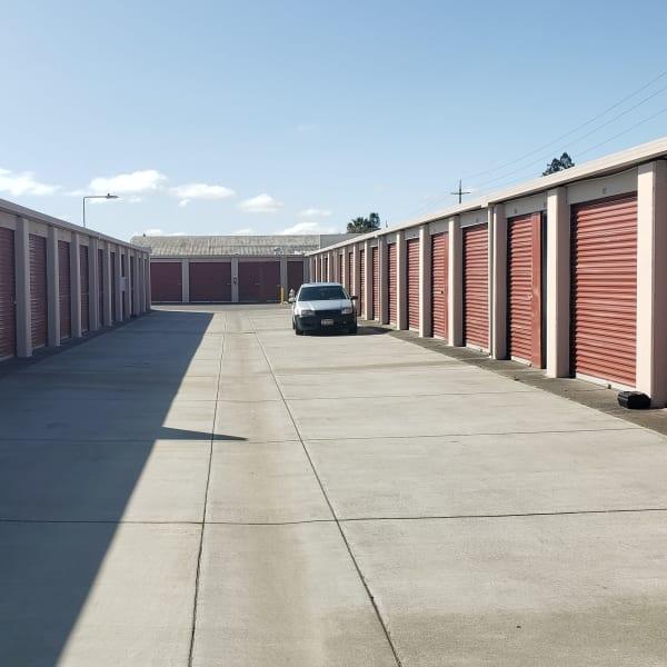Outdoor storage units at StorQuest Self Storage in Napa, California