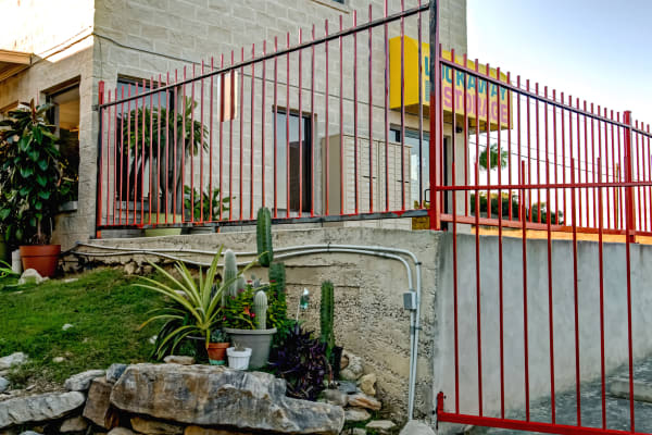 Gated entry at Lockaway Storage in San Antonio, Texas