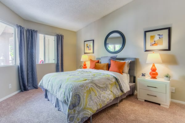Furnished spacious Master bedroom at Tuscany Village Apartments in Ontario,
