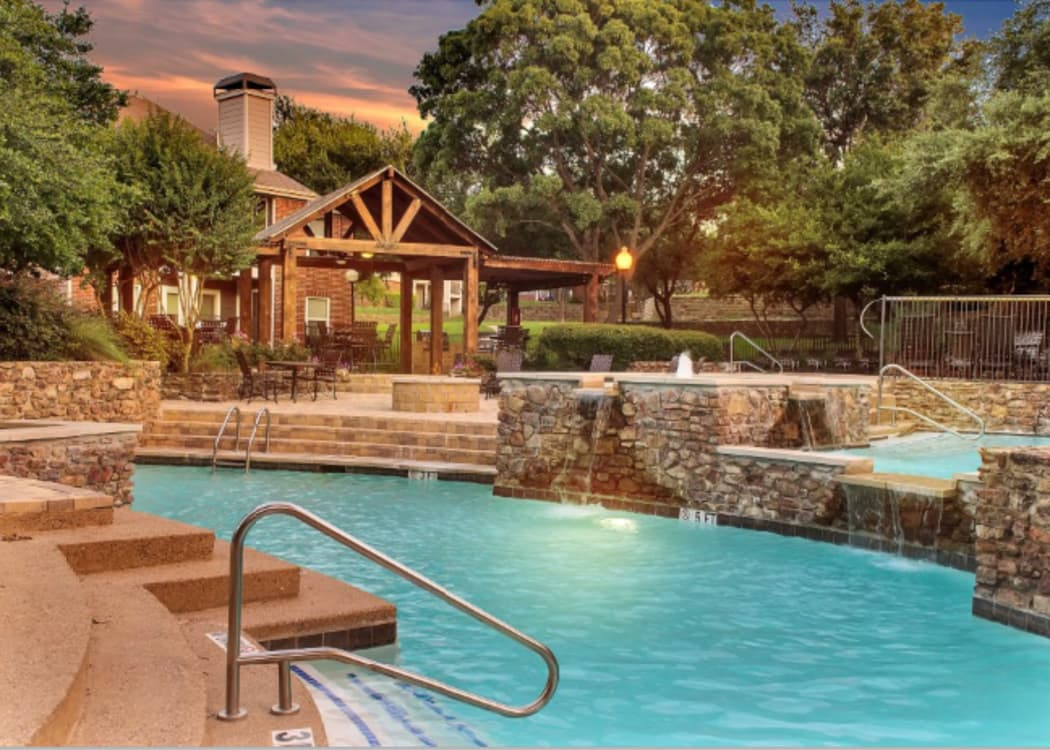 Pool at Fountains at Steeplechase Apartments