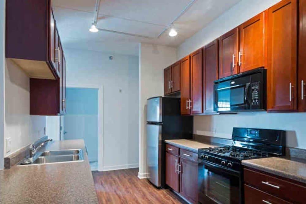 Spacious kitchen at 301 Riverwalk Place in Buffalo Grove, Illinois