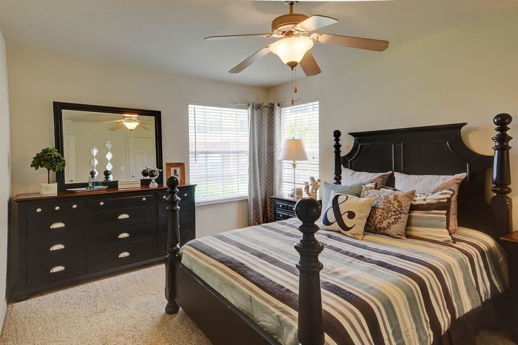 Our luxury apartments in Amarillo, Texas showcase a bedroom