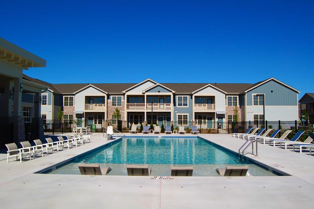 Poolside view at Springs at Sun Prairie