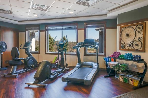 Fitness center at Arbor Glen Senior Living in Lake Elmo, Minnesota