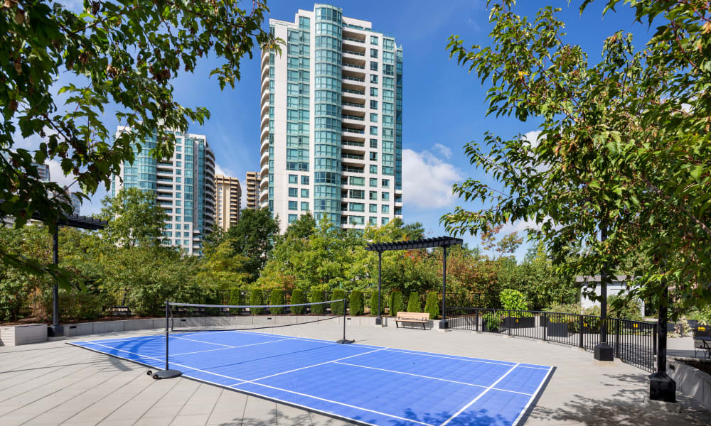 Panarama Tower tennis court in Burnaby, British Columbia