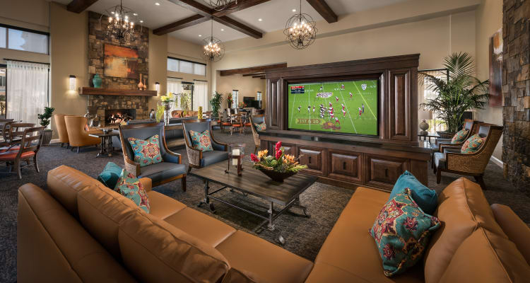 Clubhouse lounge at San Artes in Scottsdale, Arizona