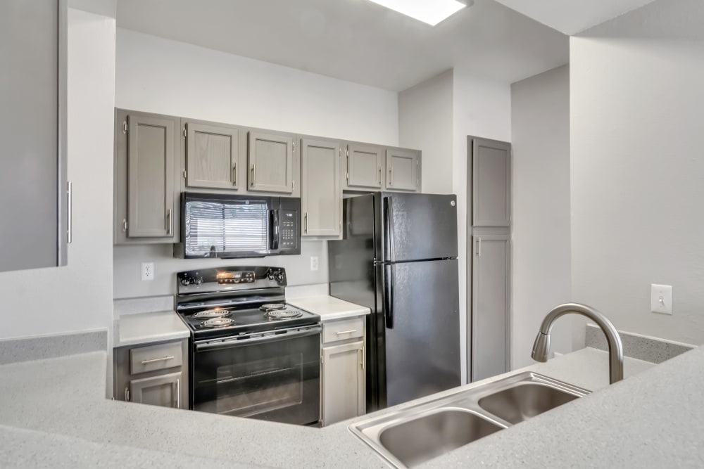 Kitchen At Ventana Canyon Apartments In Albuquerque NM