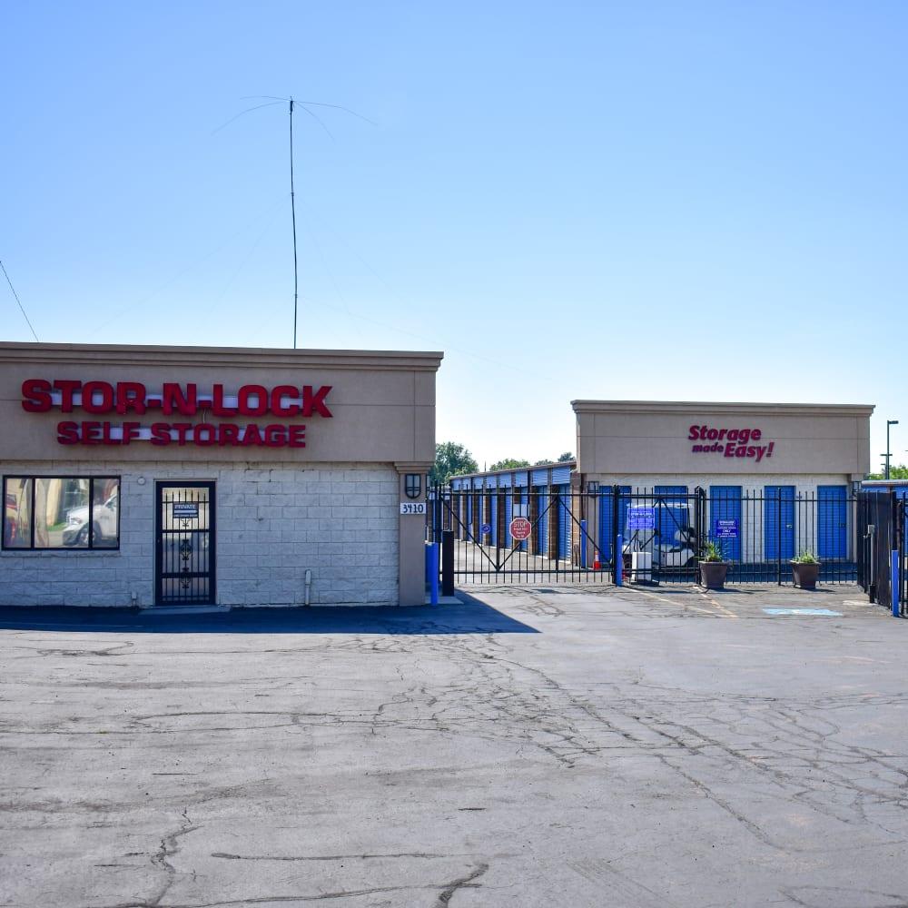 The front door at STOR-N-LOCK Self Storage in West Valley City, Utah