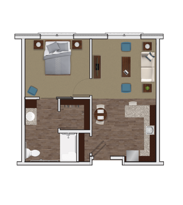 Assisted Living One Bedroom at Stonecrest of McCandless
