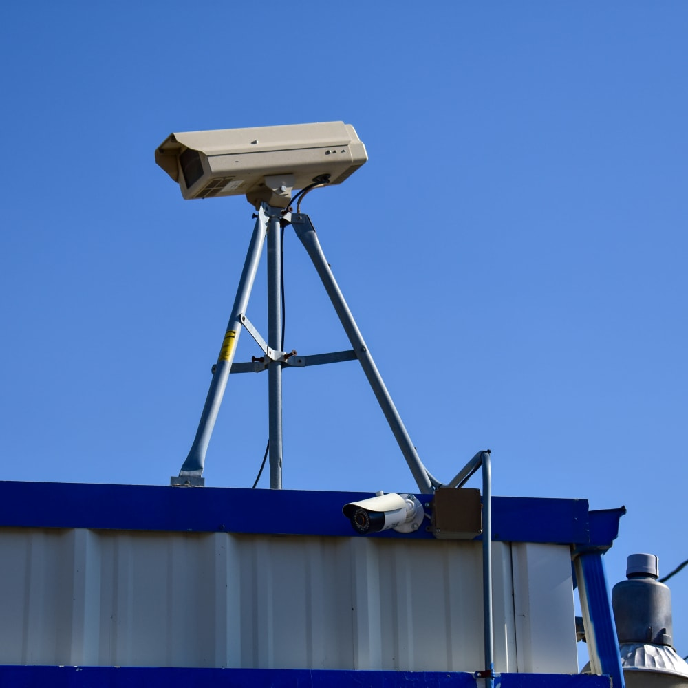 Video surveillance cameras at STOR-N-LOCK Self Storage in Sandy, Utah