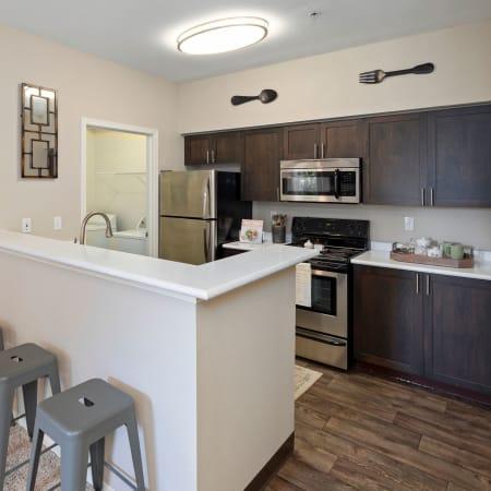 Floor plan layouts at HighGrove Apartments in Everett, Washington