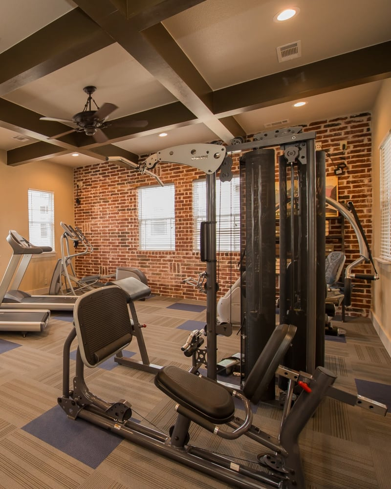 Fitness center at Scissortail Crossing Apartments in Broken Arrow, Oklahoma