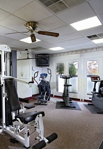 Fitness center at King's Manor Apartments in Harrisburg, PA