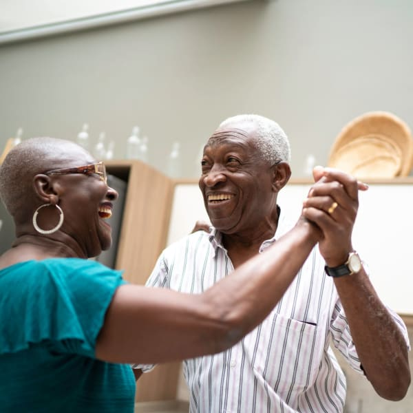 A man and a woman dance at The Atrium at Carmichael in Carmichael, California