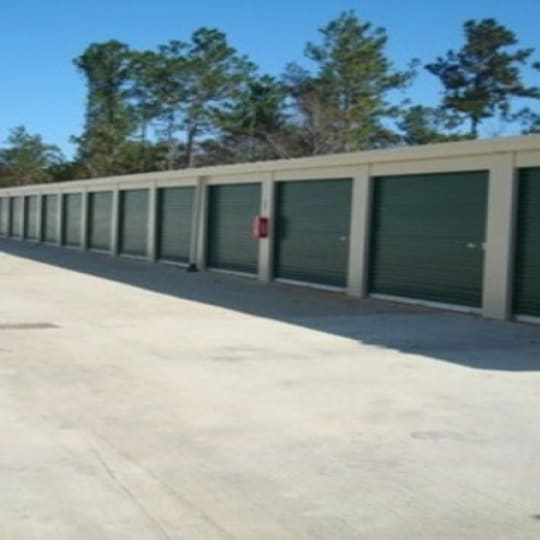 Easy access storage units at A Storage of Daphne in Daphne, Alabama
