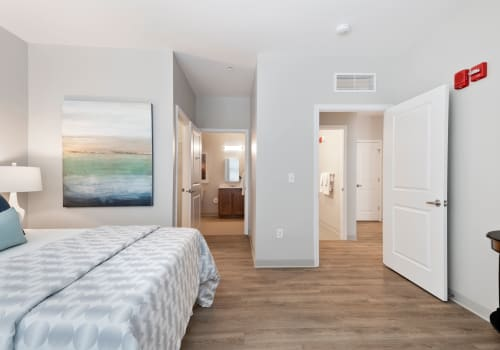 Floor plans at lThe Apartments at Sharpe Square in Frederick, Maryland