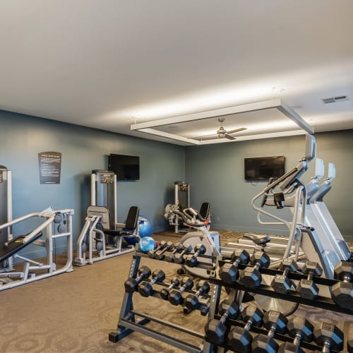 Fitness center at Latitude at Deerfield Crossing in Mason, Ohio