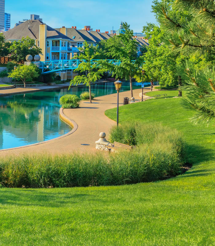 Sunny park near Emblem Alpharetta in Alpharetta, Georgia