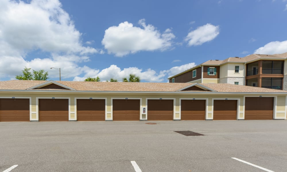 Garages for cars at Cabana Club and Galleria Club in Jacksonville, Florida