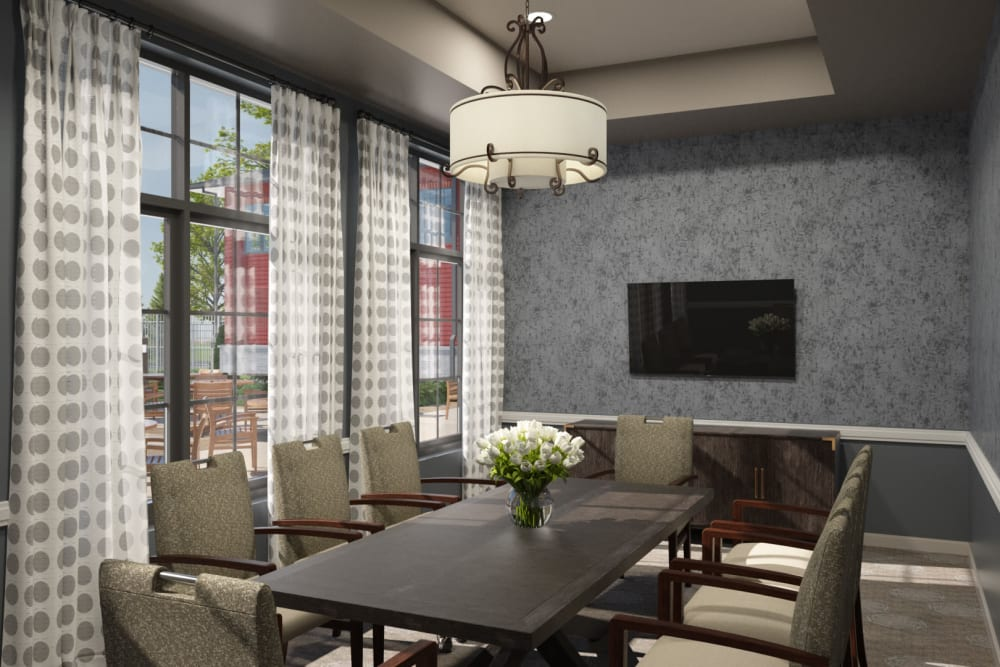 Private dining room for families at Anthology of Midlothian - Opening Early 2021 in North Chesterfield, Virginia