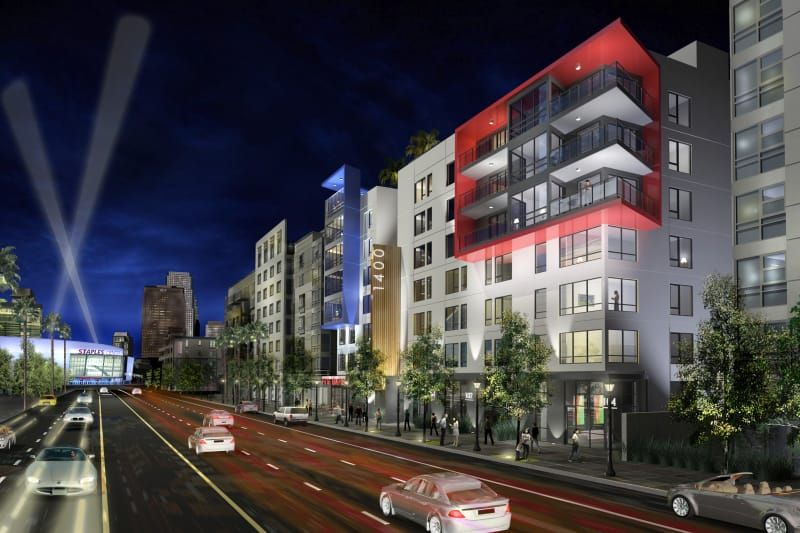 1400 Fig apartments and street view in Los Angeles, California