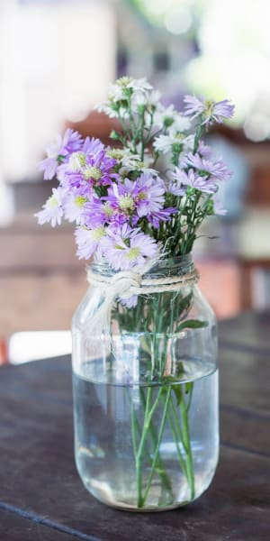 Beautiful vase full of flowers at Tower 737 Condominium Rentals in San Francisco, California