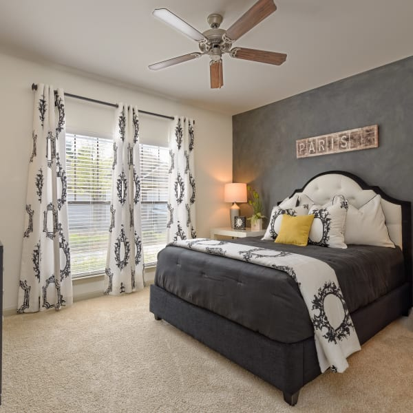 Bedroom with a view at The Heights at Old Peachtree in Suwanee, Georgia