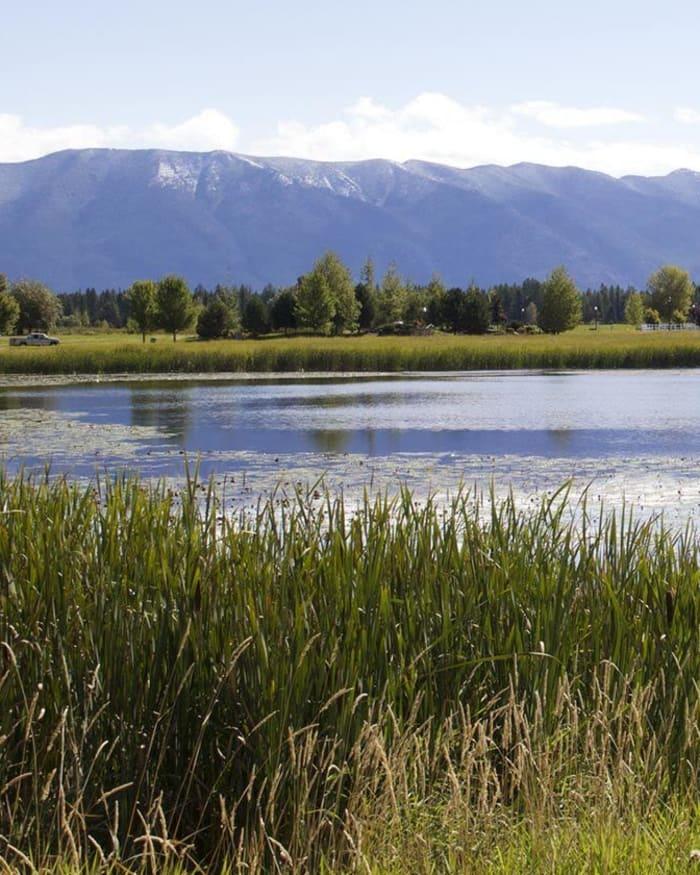 Beautiful mountain views at The Springs at Whitefish in Whitefish, Montana.
