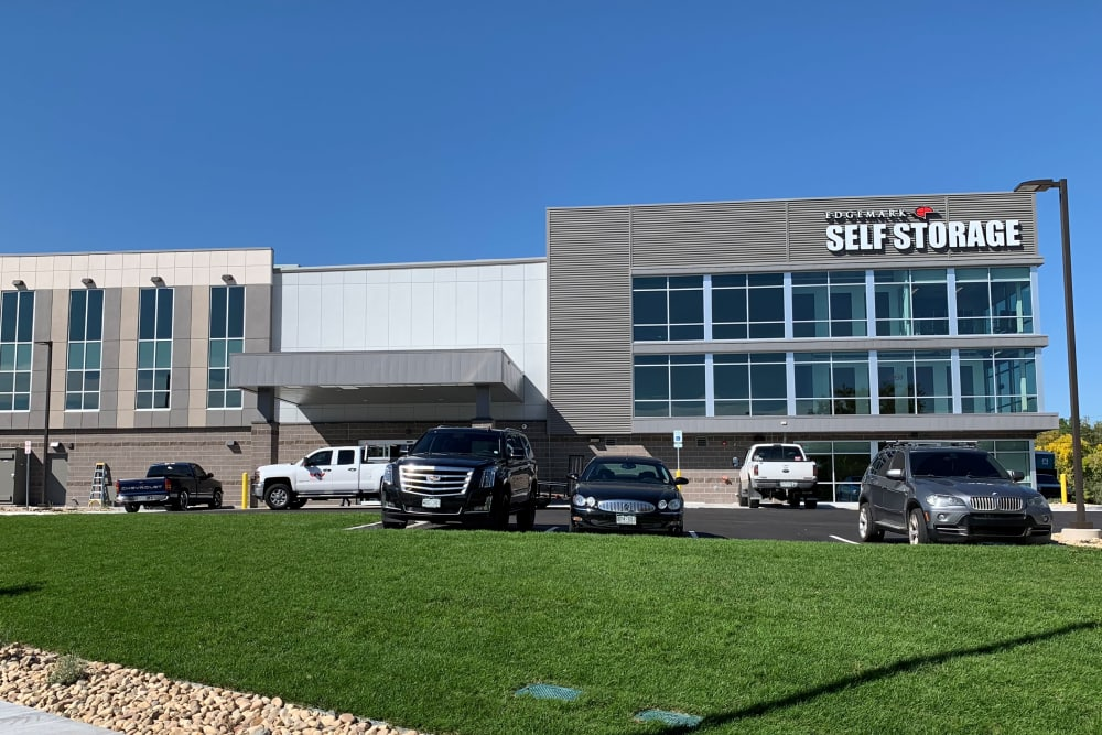 Exterior of Edgemark Self Storage in Glendale, Colorado