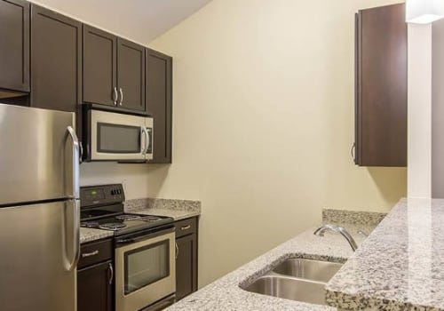 Granite countertops at Ethan Pointe Apartments in Rochester, New York
