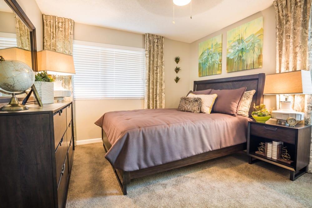 View of bedroom with large window at 4127 Arcadia in Phoenix, Arizona