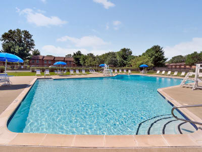 Our apartments in Eastampton, New Jersey showcase a spacious swimming pool