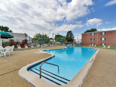 Luxurious swimming pool awaits you at Brookmont Apartment Homes in Philadelphia, Pennsylvania