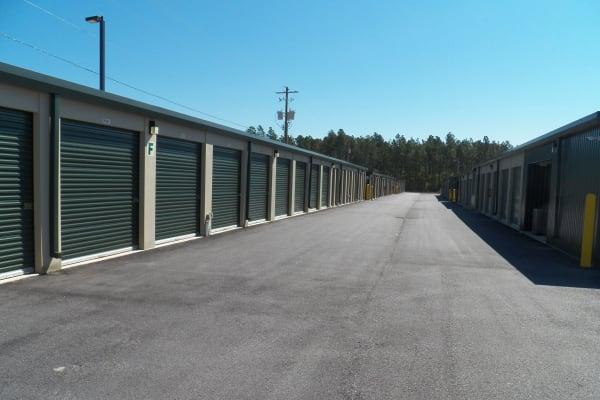 Exterior units at Breezy Hill Self Storage in Graniteville, South Carolina