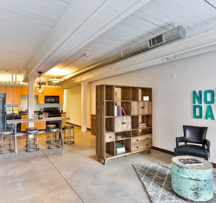 Spacious floor plan at Highland Mill Lofts in Charlotte, North Carolina