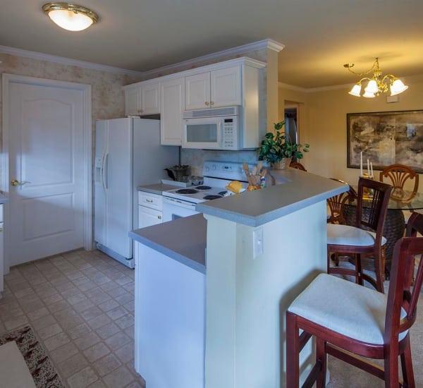 Apartment interiors at Mainstreet Village