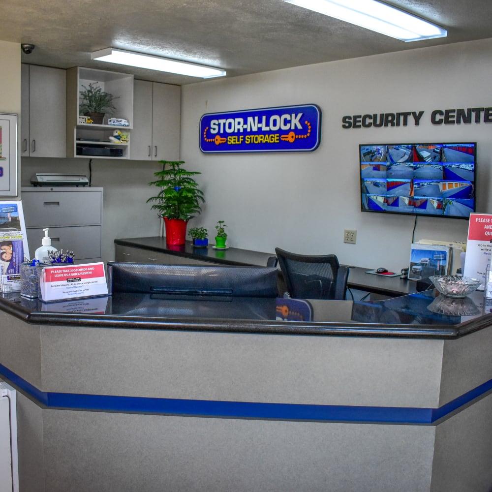 Inside the welcoming office at STOR-N-LOCK Self Storage in Taylorsville, Utah