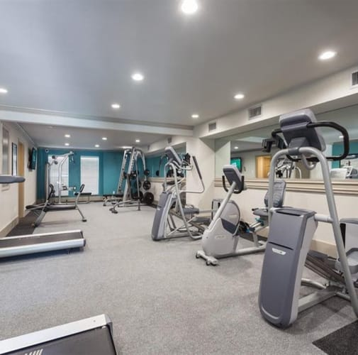 View virtual tour of our fitness center at McAlister in Webster, Texas