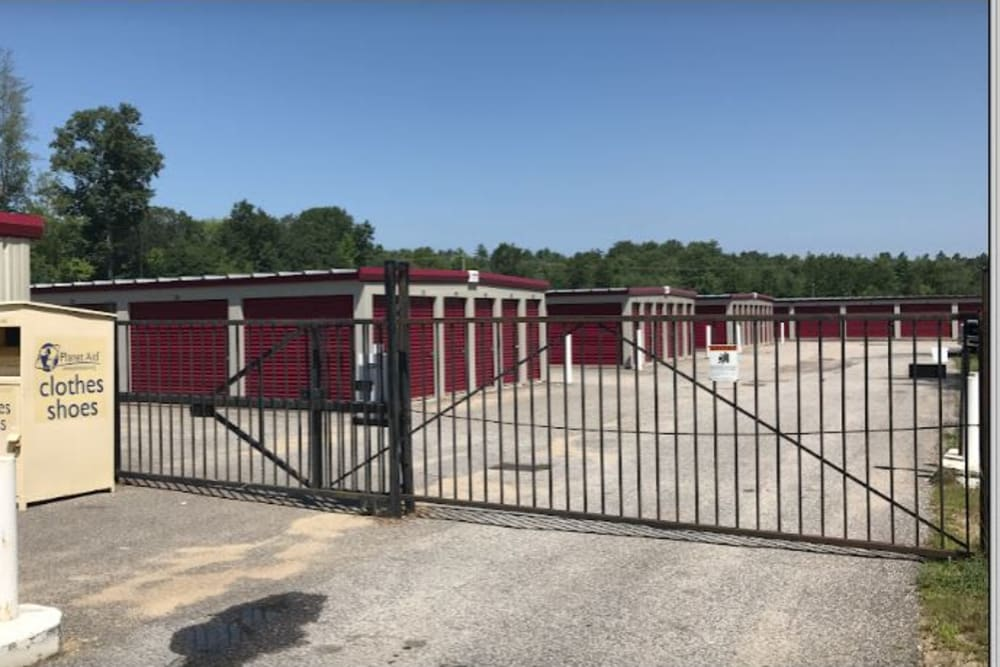 Security gate at 603 Storage - Pittsfield in Pittsfield, New Hampshire