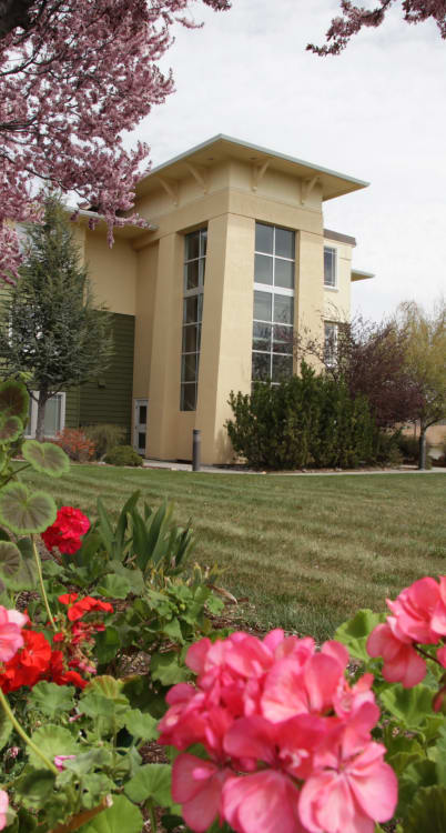 Landscaped grounds around Crystal Terrace of Klamath Falls in Klamath Falls