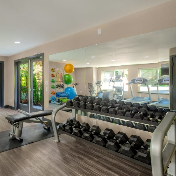 Superb fitness center at Karbon Apartments in Newcastle